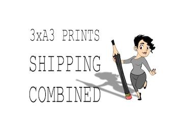 "Choose 3 x A3 Art Prints, Shipping Combined, Print,  Wall Decor, Wall Art, Illustration Print, Nursery art, print 11.7""x16.5"" (29.7×42 cm)"