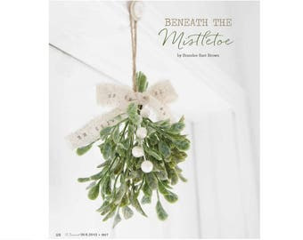 Rustic Christmas Mistletoe . mistletoe . Christmas ornament . white Christmas decor . ornament . unique gift . hostess gift stocking stuffer