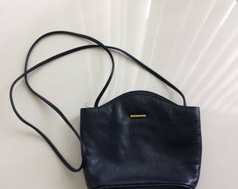 Albert Nipon Vintage Navy Blue Cross body bag