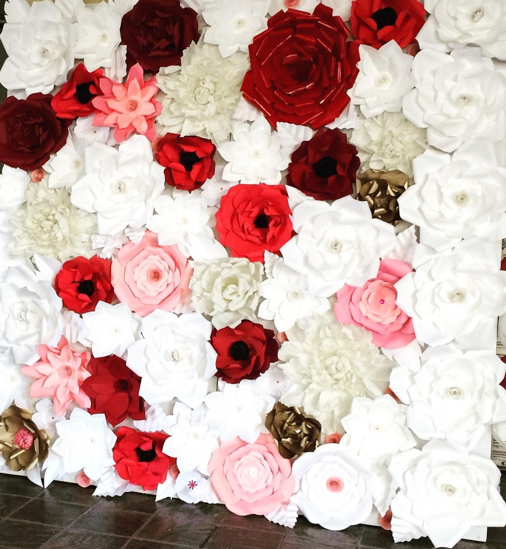 6x8 Paper Flower Backdrop Giant Paper Flowers Wall Paper Flower