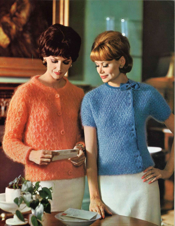Cozy Cardigans 1960s Cardigan Sweater Patterns 60s Vintage