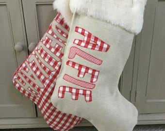 Personalised chunky Christmas Stocking