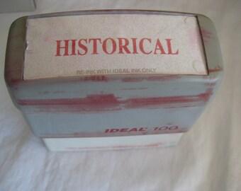 Vintage self inking stamp, HISTORICAL,