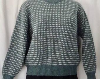 LN Vintage 1980's Womens Warm Wool Crewneck Sweater Sz L