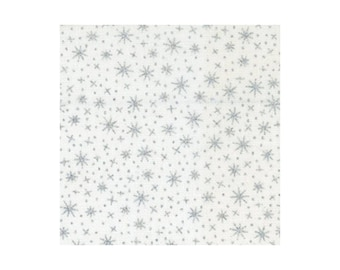 Sparkle Metallic - White with Silver (409-White) by Elizabeth's Studio Cotton Fabric Yardage