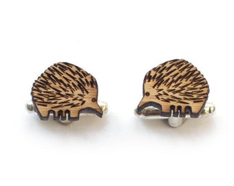 Cufflinks - animal cufflinks - Wood Cufflinks - Australian cufflinks - 5 year anniversary - cufflinks for men - australian cuffs