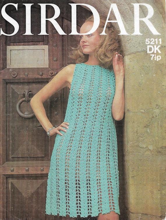 Einfach häkeln Muster Kleid-Häkelanleitung Crochet Muster