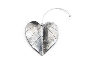 Ornament: Hand-forged Red Bud Leaf