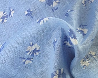 Blue linen fabric 100% linen fabric linen fabric light weight linen organic fabric clothing fabric flax linen fabric by meter