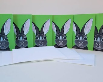 Rabbit Note Cards, thank you cards, greeting cards, blank cards, note cards, stationary, invitations, announcements, bunny cards, rabbit