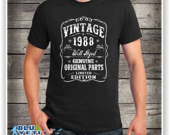 1988 Birthday Gift, VINTAGE 1988 Shirt, Tee for son, T-Shirt, Gift for Him,  Limited Edition 1988 ,30th Birthday, Turning 30 , 30th