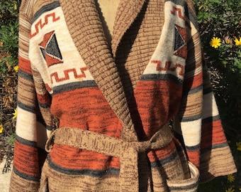 Vintage 70's Knit Cardigan Sweater