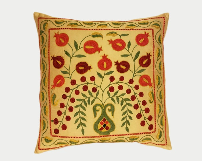 Handmade Suzani Pillow Cover msp786, Suzani Pillow, Uzbek Suzani, Suzani Throw, Boho Pillow, Suzani, Decorative pillows, Accent pillows