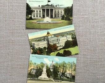 Washington DC Postcard Collection Collectible Postcards Unused Capitol souvenir Postcards