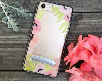 Spring Flowers Phone Case for iPhone 7 and 8 with Kickstand and Bumper