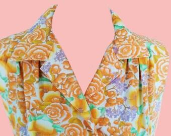 Handmade retro floral dress