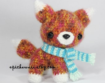 PATTERN: Bancha the Red Fox Pup - Teacup Pet Collection Crochet Amigurumi Doll
