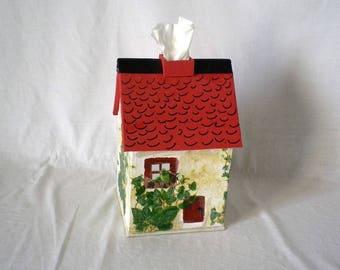 Cardboard House shape square tissue box