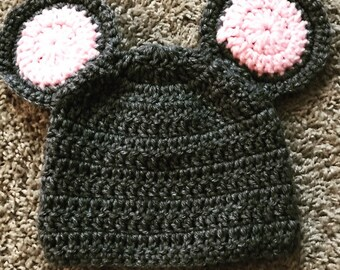 Mouse Hat and Diaper Cover