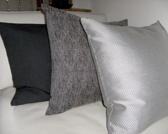 "GREY Pillow Cover, Throw pillow 20"" x 20"" inch pillow cover, MODERN Pillow, Accent pillow, Sofa pillow, Home decor pillow cover"