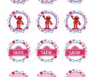 Abby Cadabby Cupcake Toppers. Abby Cadabby Favor Tags, Abby Cadabby Birthday- Custom Printable