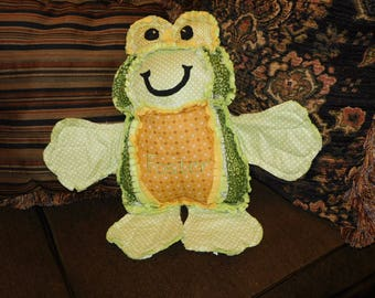 Frog - ragged Edge Stuffed  Toy