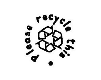 Please recycle this recycle rubber stamp, handmade rubber stamp