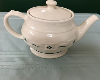 Pot de thé Longaberger, neuf dans boite d'origine, belle pièce!