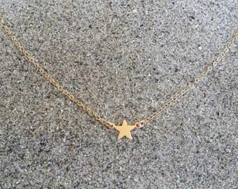 Gold Star Necklace, Tiny Star Pendant, Tiny Star, Gold Necklace, Gold Star, Gold Filled, or, Sterling Silver