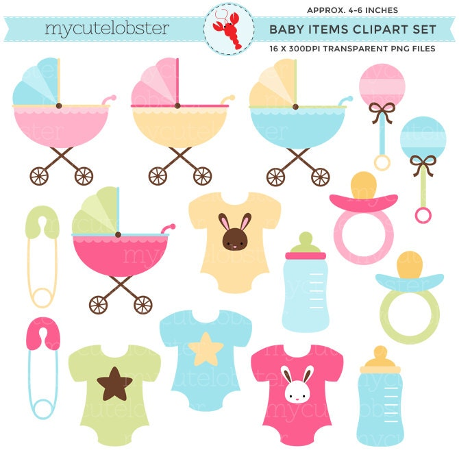 baby items clipart set clip art set of strollers clothes rh etsy com baby items clip art free images baby items clip art to color