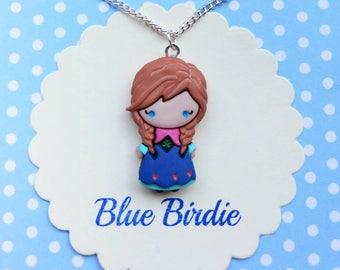 Disney frozen necklace Anna necklace Disney jewelry Disney necklace frozen jewelry Disney jewellery Anna pendant necklace Disney gifts