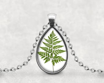 Adirondack Fern, Fern Necklace Pendant, Fern Leaf Print, Fern Jewelry, Fern Art,  Botanical Fern, Maidenhair Fern, Pendeloque Pendant