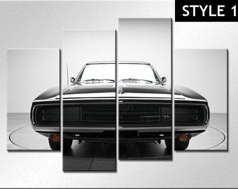 Classic Dodge 4 panel canvas