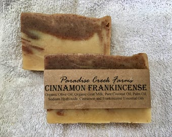 Cinnamon Frankincense Goat's Milk Soap