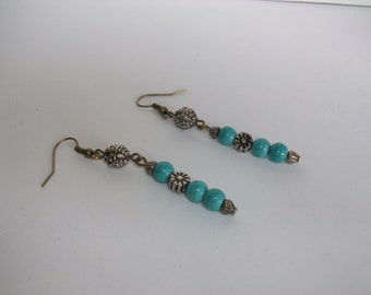 Antique style turquoise earrings