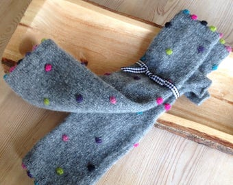 Fingerless Mitts, Pure Wool Mitts, Arm Warmers, Grey Fingerless Gloves