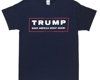 Donald TRUMP NAVY BLUE T Shirt - Make America Great Again! Official Campaign Logo Sizes Small - 5X