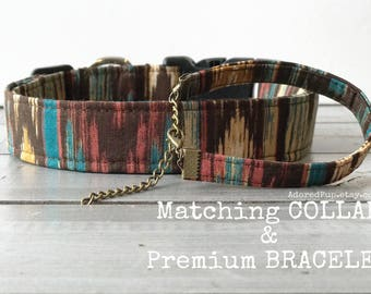 MATCHING OWNER'S BRACELET, You CHooSe Color & Style!! COLLaR + BRaCeLeT SeT, Made to Order
