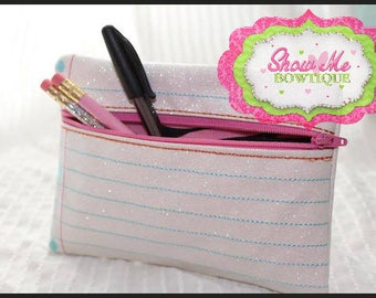 8x12 LINED Notebook Paper ITH zip Bag