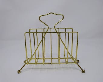 Mid century napkin holder brass metal atomic kitchen dining