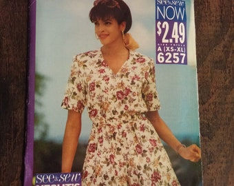 See & See 6257 XS-XL blouse and shorts pattern, uncut