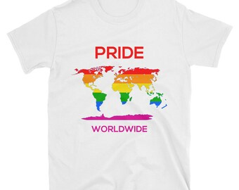 LGBT World Map T Shirt - Show your PRIDE and stand against discrimination T Shirt