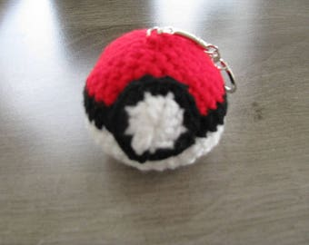 Pokemon Pokeball Keychain is handmade
