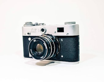 FED 3 Camera, Revue 3, Vintage Rangefinder Camera with lens Industar-61, Soviet Leica Copy FREE SHIPPING