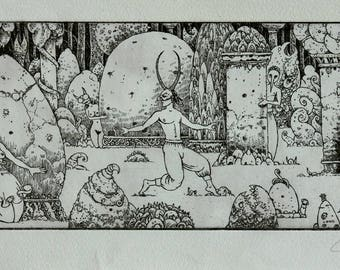 The Stoneforest - etching