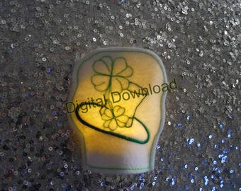 Lucky Clover Hat Led Tea Light Cover