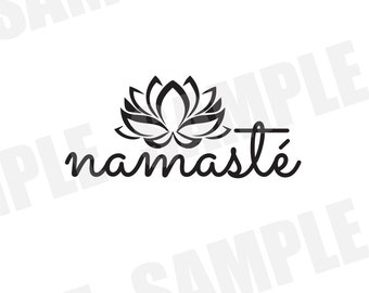 SVG Commercial/Personal Use Namaste Yoga Silhouette Cameo