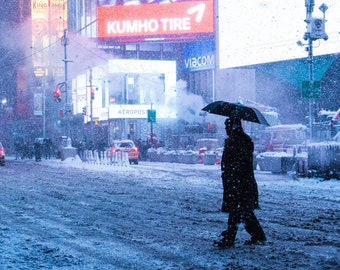 Times Square Snowstorm