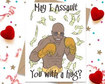 Funny Greeting Card, Birthday Card, Anniversary Card, Gift for Her, Gift for Him, Gay Greeting Card, Floyd Mayweather, Gift for Boxer