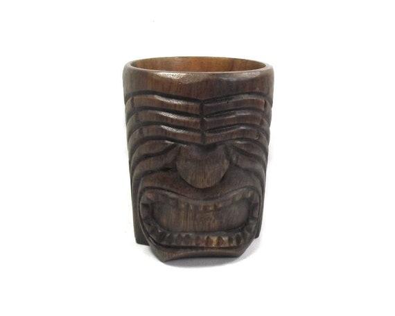 Vintage Hawaiian Wooden Tankard